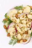 Cauliflower salad close up. Stock Image