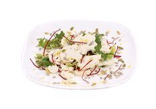 Cauliflower salad. Royalty Free Stock Image