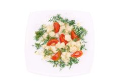 Cauliflower salad. Royalty Free Stock Photo