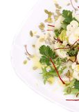 Cauliflower salad with seeds and parsley. Stock Images