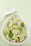 Cauliflower Salad with Spinach Pesto Stock Photography