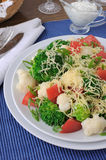 Cauliflower salad with tomatoes and broccoli Stock Photos