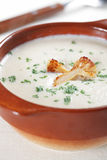 Cauliflower soup Stock Photo