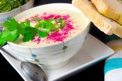 Cauliflower soup Stock Image
