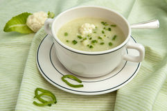 Cauliflower soup Stock Images