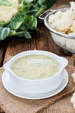 Cauliflower Soup in a bowl Royalty Free Stock Image