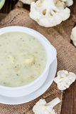 Cauliflower Soup in a bowl Stock Photography