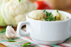 Cauliflower soup Royalty Free Stock Image