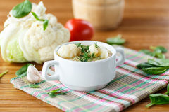 Cauliflower soup Royalty Free Stock Photo