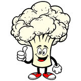 Cauliflower with Thumbs Up Stock Photography