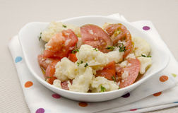 Cauliflower. And tomato appetizer salad Royalty Free Stock Images