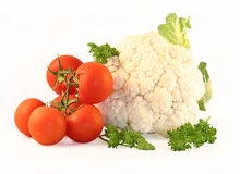 Cauliflower and tomatoes Royalty Free Stock Image