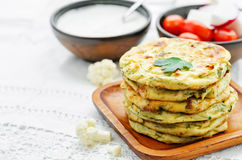 Cauliflower tortillas mini Stock Image