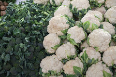 Cauliflower in the Turkish market Royalty Free Stock Photos