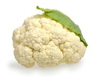 Cauliflower on a white Stock Photography