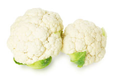Cauliflower on the white background Royalty Free Stock Image