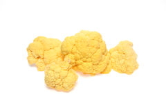 Cauliflower in a white background. Pictured cauliflower in a white background Royalty Free Stock Photography