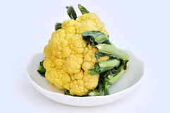 Cauliflower on white dish Stock Image