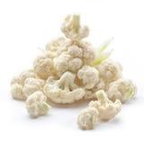 Cauliflower on white Stock Photos