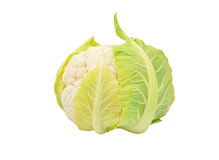 Cauliflower on white Stock Photography