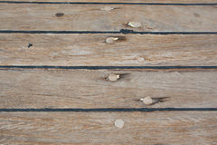 Caulked boat floorboard Royalty Free Stock Photos
