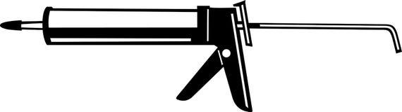 Caulking Gun. Line Art Illustration of a Caulking Gun Royalty Free Stock Image