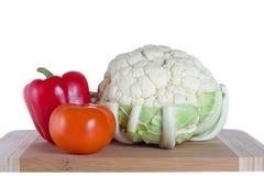cauloflower胡椒蕃茄 库存照片