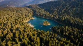 Caumasee in der Schweiz Lizenzfreies Stockbild