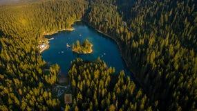 Caumasee in der Schweiz Lizenzfreies Stockfoto
