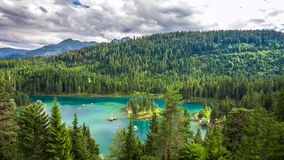 Caumasee, Flims, Graubuenden, Switzerland stock footage