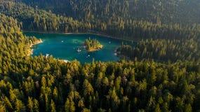 Caumasee in Switzerland stock images