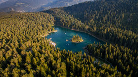 Caumasee in Switzerland royalty free stock image