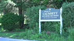 Caumsett Park Preserve Sign. A view or scene of State parks stock footage
