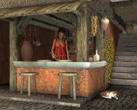 caupona rzymski Zdjęcia Stock