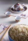 A causa ajustou-se com arroz Imagens de Stock Royalty Free