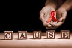 Causa da sustentação do AIDS imagem de stock royalty free