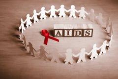Causa da sustentação do AIDS imagens de stock