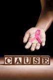 Causa da sustentação do cancro da mama foto de stock