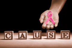 Causa da sustentação do cancro da mama imagens de stock royalty free