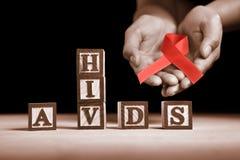 Causa do AIDS imagem de stock