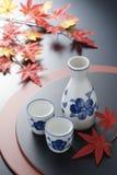 Causa giapponese in autunno Fotografia Stock Libera da Diritti