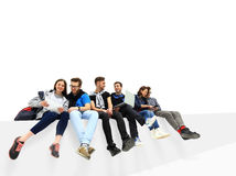 Causal group of people sitting Royalty Free Stock Image