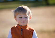 Causal portrait of an adorable toddler boy Stock Photos