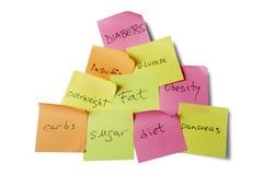 Causas y riesgos de la diabetes Foto de archivo libre de regalías