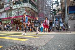 Causaway Bay Crosswalk Stock Image