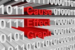 Cause effect graph Royalty Free Stock Photos