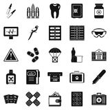 Cause icons set, simple style. Cause icons set. Simple set of 25 cause vector icons for web isolated on white background Royalty Free Stock Photography