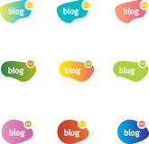 causerie de bulles de blog Image stock