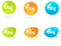 causerie de bulles de blog Images stock