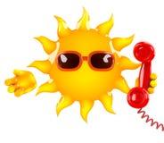 causerie de 3d Sun illustration de vecteur